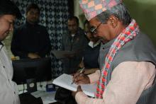 writing suggestion by president of DDC lalitpur
